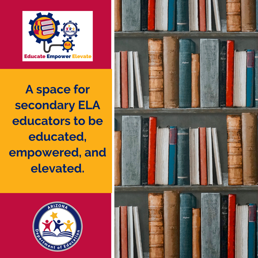 A space for secondary ELA educators to be educated, empowered, and elevated